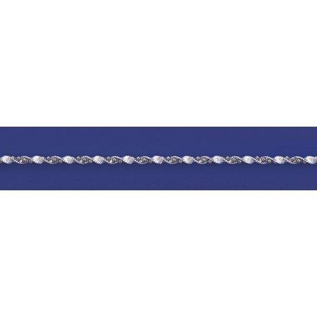 Арт 85 030 2ч Цепочка женская серебряная 925* чернение Серпантин шарики