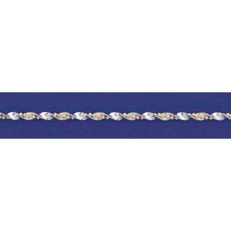 Арт 85 040 2ж Цепочка женская серебряная 925* позолота Серпантин шарики