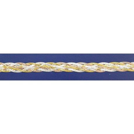 Арт 19 040 6цв Цепочка женская серебряная 925* позолота Коса
