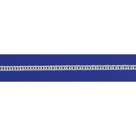 Арт 06 080 2у Цепочка серебряная 925* Рембо (Ромб двойной) удлиненный