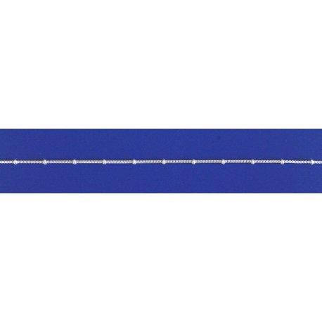 Арт 07 010ш Цепочка женская серебряная 925* Венеция шарики