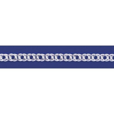 Арт 06 120 2 Цепочка серебряная 925* Рембо (Ромб двойной)