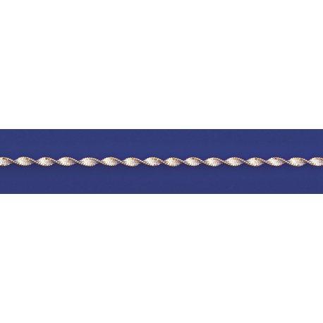 Арт 85 035ж Ланцюжок жіночий срібний 925* позолота Серпантин