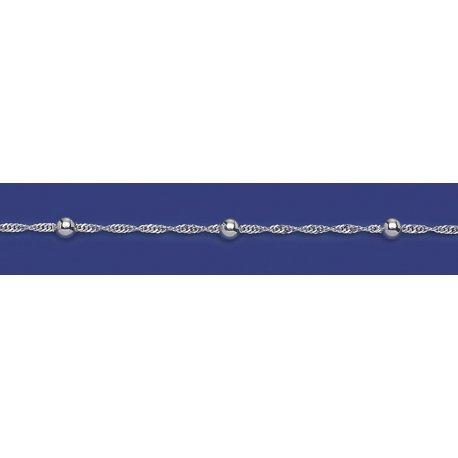 Арт 27 035ш Цепочка женская серебряная 925* Сингапур шарики