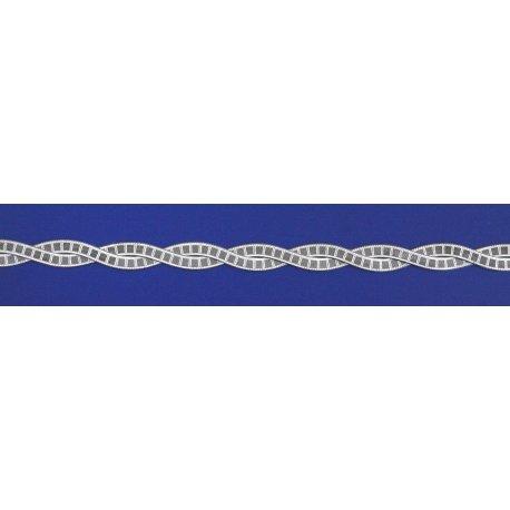 Арт 19 040 2ч Ланцюжок жіночий срібний 925* чорніння Коса