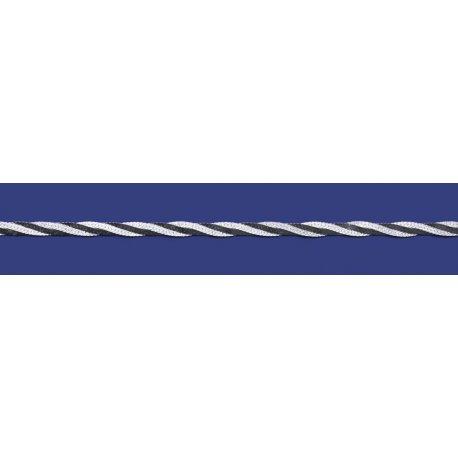 Арт 19 025чб Цепочка женская серебряная 925* чернение Коса