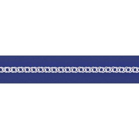 Арт 06 080 2 Цепочка серебряная 925* Рембо (Ромб двойной)