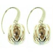 Серьги женские серебряные 925* родий синт. жемчуг Арт 11 2 3800