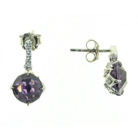 Серьги женские серебряные 925* родий цирконий Арт 11 5357А