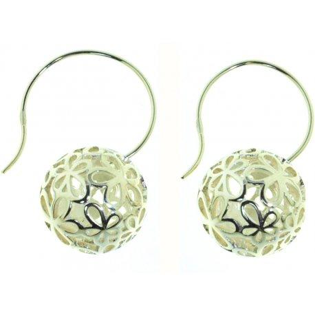 Серьги женские серебряные 925* родий кристаллы Арт 11 2 4035-96