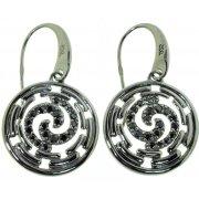 Сережки жіночі срібні 925* чорніння цирконій Арт 11 2 4592