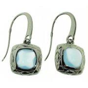 Серьги женские серебряные 925* чернение кристалл Арт 11 2 4636