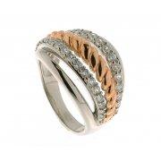 Кольцо женское серебряное 925* родий позолота циркон Арт 15 5297