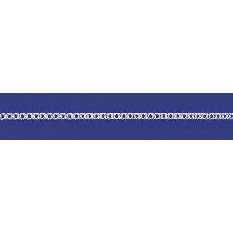Арт 06 040 2р Цепочка серебряная 925* родий Рембо (Ромб двойной)