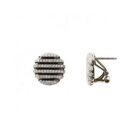 Серьги женские серебряные 925* родий цирконий Арт 115 182