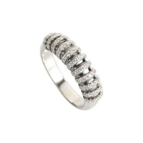 Кольцо женское серебряное 925* родий цирконий Арт 155 325