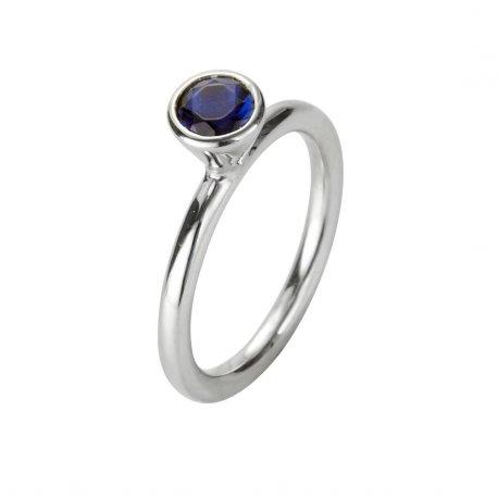 Кольцо женское серебряное 925* родий цирконий Арт 223 023
