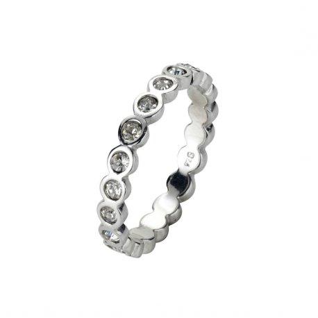 Кольцо женское серебряное 925* родий цирконий Арт 223 031