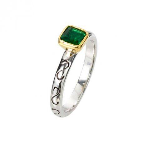 Кольцо женское серебряное 925* родий цирконий Арт 223 053