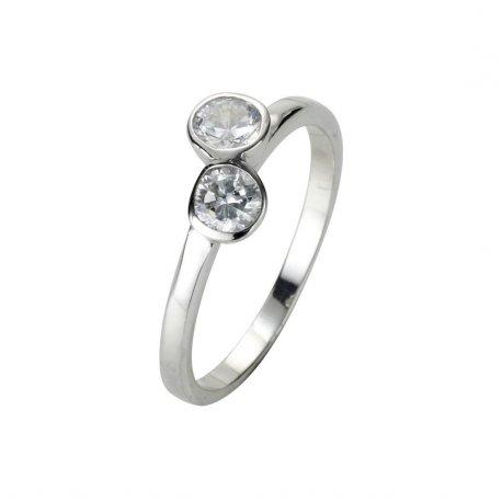 Кольцо женское серебряное 925* родий цирконий Арт 223 029