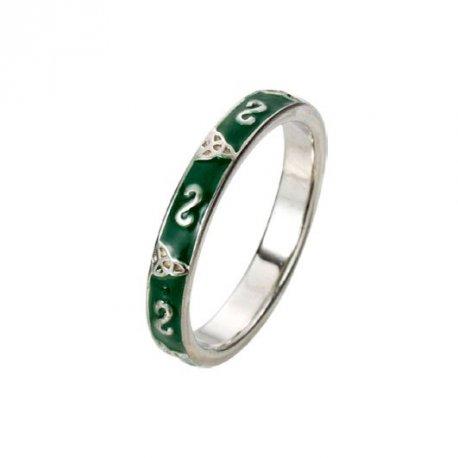 Кольцо женское серебряное 925* эмаль Арт 223 051з
