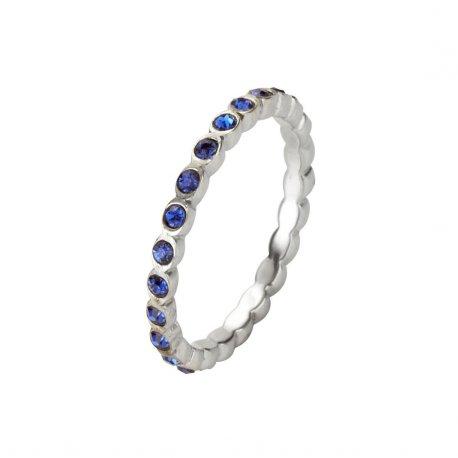 Кольцо женское серебряное 925* родий цирконий Арт 223 032