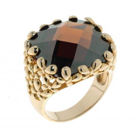 Кольцо женское серебряное 925* позолота цирконий Арт 55 4816