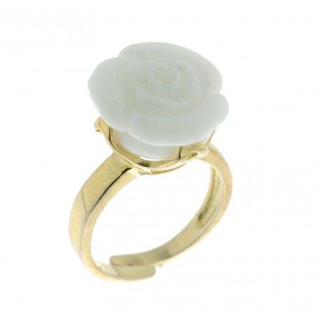 Кольцо женское серебряное 925* позолота синт. агат Арт 55 2950