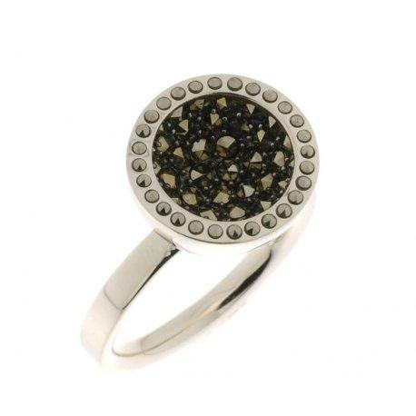 Кольцо женское серебряное 925* родий марказит Арт15 2 4026