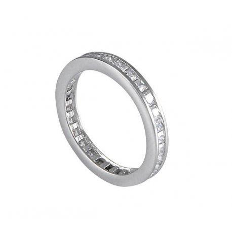 Кольцо женское серебряное 925* родий цирконий Арт 15 7078