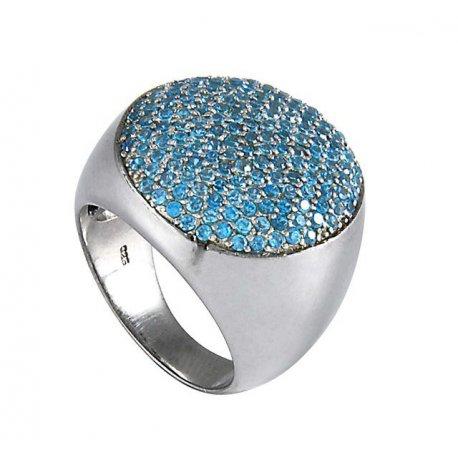 Кольцо женское серебряное 925* родий цирконий Арт 150 1020с