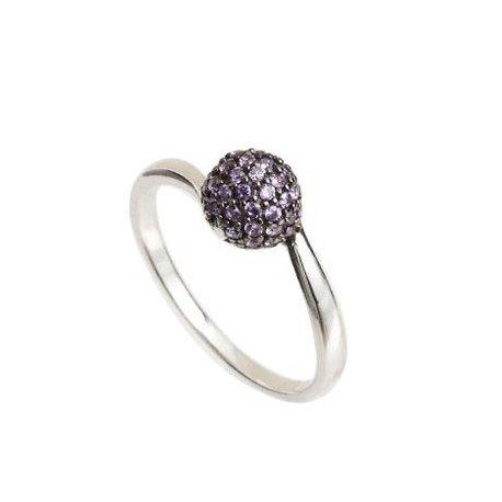 Кольцо женское серебряное 925* родий цирконий Арт 155 0021с