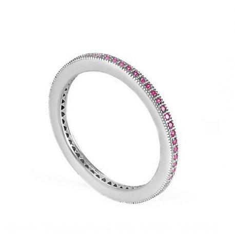 Кольцо женское серебряное 925* родий цирконий Арт 155 007