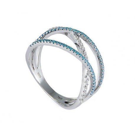 Кольцо женское серебряное 925* родий цирконий Арт 155 018