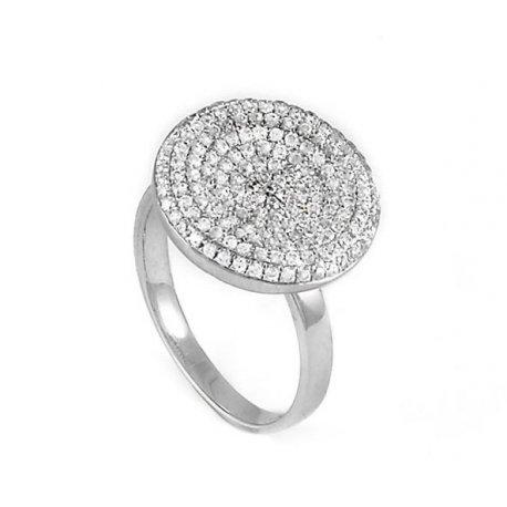 Кольцо женское серебряное 925* родий цирконий Арт 155 019