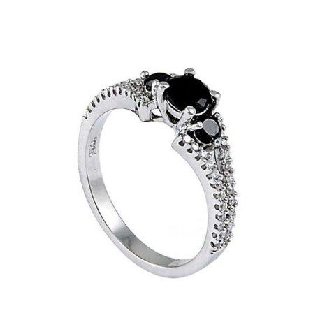 Кольцо женское серебряное 925* родий цирконий Арт 155 052