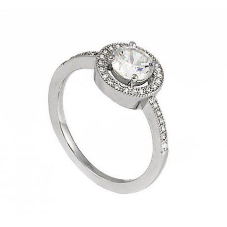 Кольцо женское серебряное 925* родий цирконий Арт 155 170