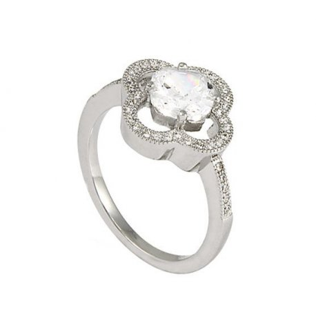 Кольцо женское серебряное 925* родий цирконий Арт 155 174