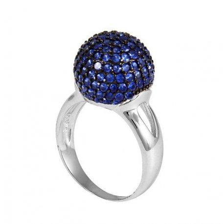 Кольцо женское серебряное 925* родий цирконий Арт 155 215с