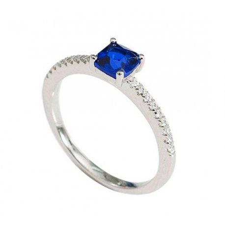 Кольцо женское серебряное 925* родий цирконий Арт 155 224