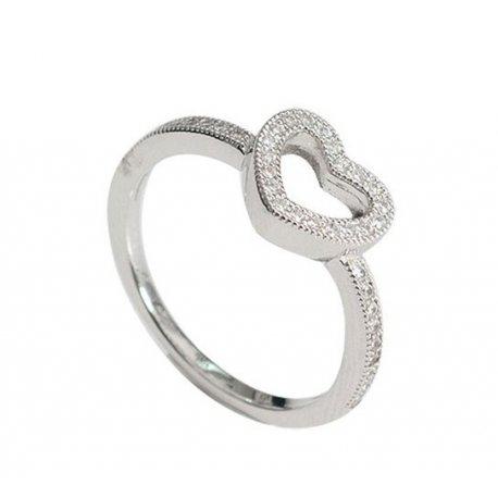Кольцо женское серебряное 925* родий цирконий Арт 155 228