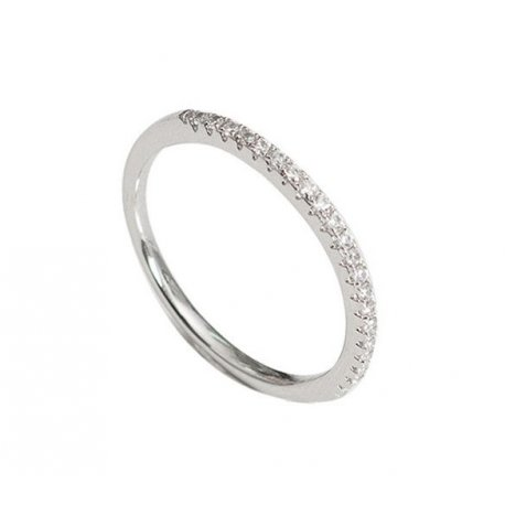 Кольцо женское серебряное 925* родий цирконий Арт 155 241