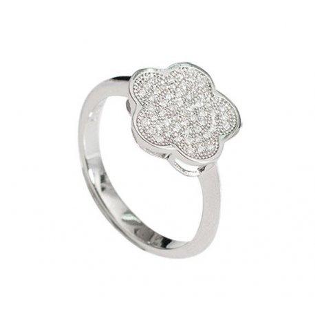 Кольцо женское серебряное 925* родий цирконий Арт 155 255