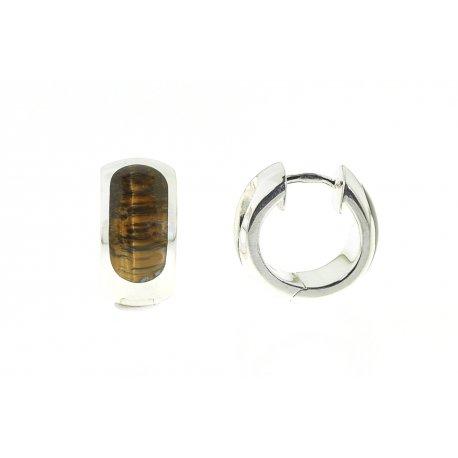 Серьги женские серебряные 925* родий тигровый глаз Арт 11 2 4678