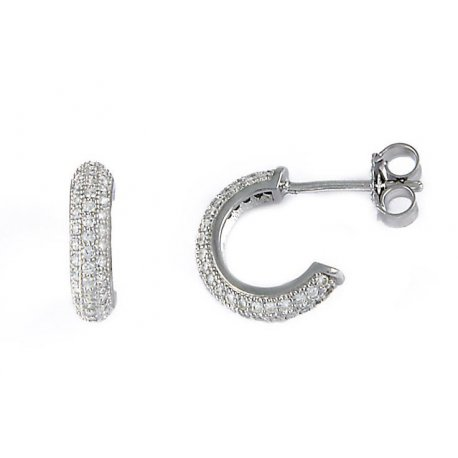 Серьги женские серебряные 925* родий цирконий Арт 115 016