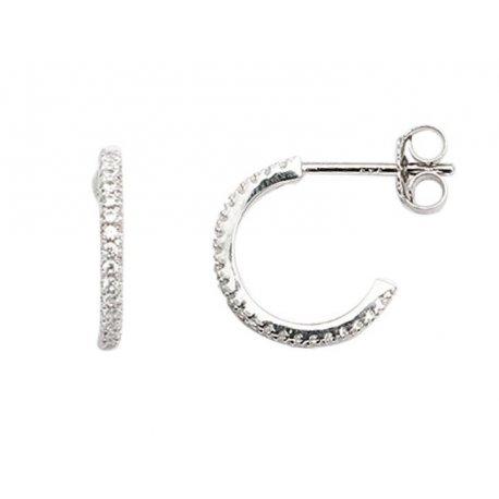 Серьги женские серебряные 925* родий цирконий Арт 115 086