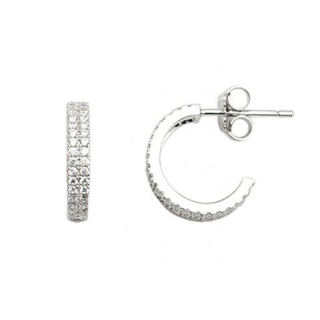 Серьги женские серебряные 925* родий цирконий Арт 115 087