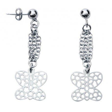Серьги женские серебряные 925* родий Арт 302 112