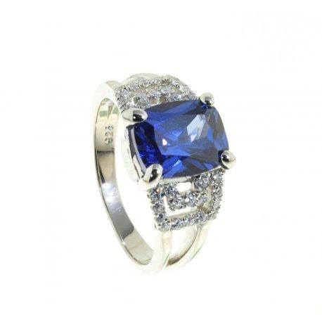 Кольцо женское серебряное 925* родий цирконий Арт 15 5486А
