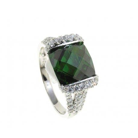Кольцо женское серебряное 925* родий цирконий Арт 15 5535